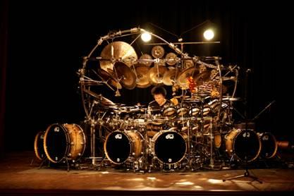 Terry Bozzio drumset